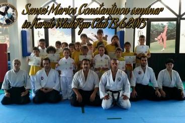 Aikido seminar with Sensei Marios Constantinou in karate wado ryu club 13-6-2015