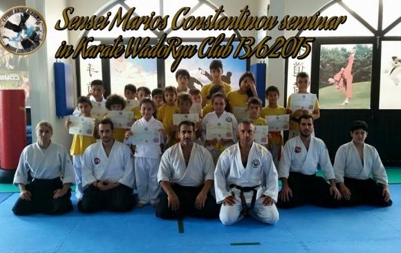Aikido seminar with Sensei Marios Constantinou in Karate wadoryu club 13.6.2015