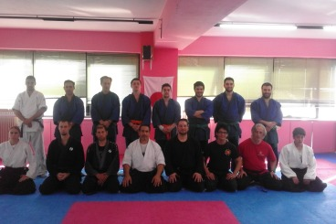 6 April 2016 Sensei Marios Constantinou ,Seminar in Tenjin Dojo in Greece.