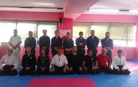6 April 2016 Sensei Marios Constantinou Seminar in Tenjin Dojo in Greece.