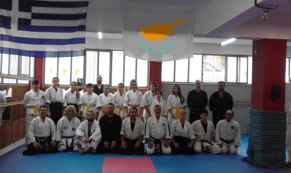 Sensei Marios Constantinou seminar in Athens 2018(Aikido /Taihojutsu keisatsu)