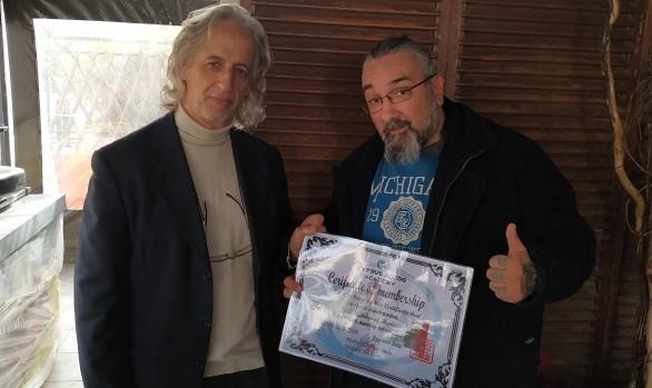 Απονομή member ship certification στον δάσκαλο Σπύρος Κουρσαρη 3/2/2019