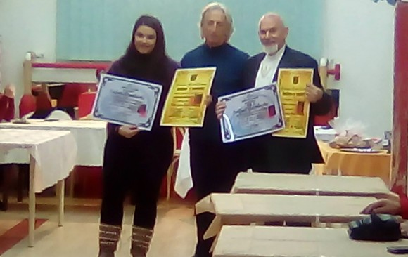 Απονομή member ship certification στον δάσκαλο Φώτιο Ξανθάκη και Αναστασία Μοτσάκου τα νέα μέλοι του (Taihojutsu(keisatsu) grand academy and Cyprus aikido academy